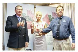 Hannes Kellerman; Head: Meat Classification division; Dr Diana van Schalkwyk Director, Food Chain Solutions (Namibia), Meat Board of Namibia member and Paul Strydom, General Manager of the Meat Board.