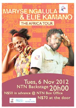 As part of their Tour of Africa Concerts two of African music's rising stars invite music lovers for a double barrel concert of a combination of beats from Central Africa and West Africa. Maryse Ngalula and Elie Kamano are set to wow the crowd at the NTN Backstage theatre next week.