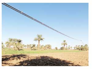The RopeCon Conveyor system crossing the Nile in Sudan.