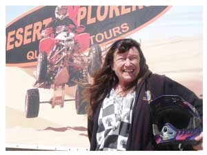 Lorna Davis, Manager of Desert Explorers Adventure Centre. (Photograph by Yvonne Amukwaya)