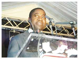 Minister of Education, Hon. Abrahm Iyambo.