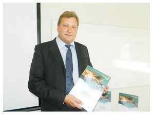 Antti Piispanen, Counsellor of the Embassy of Finland launched the UNCTAD report. (Photograph by Hilma Hashange)