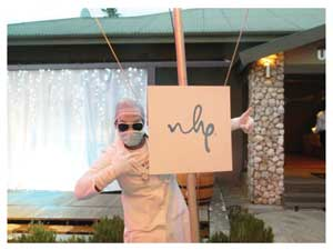 Doctor NHP, visual entertainer Sebastian Namaseb unveiling the new NHP branding (Photograph by Hilma Hashange)