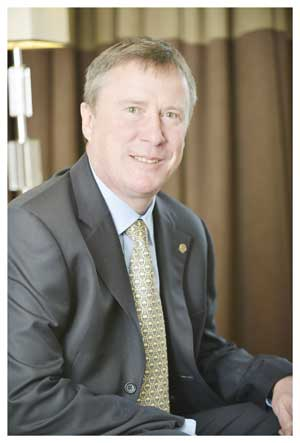 John McAree is now in charge of the Hilton Hotel in Windhoek.