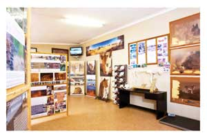 The revamped information centre at AfriCat's Information and Carnivore Care Centre