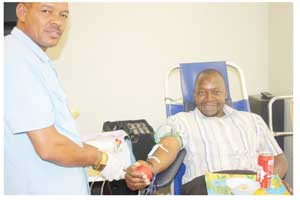 Caption: The MVA Fund's Chief Financial Officer, James Nyandoro playing his part in saving lives