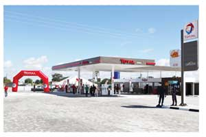 The sparkling new King's Service Station in Ondangwa