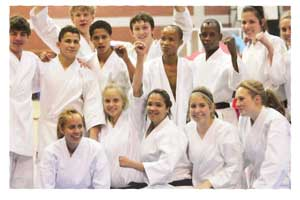 Karatekas from the Shotokan Academy..