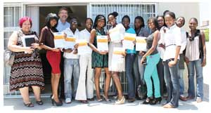 The second group of trainees successfully completed the Social Networking syllabus of the Namibia Business Innovation Centre Rlabs Academy last week. (Photograph contributed)