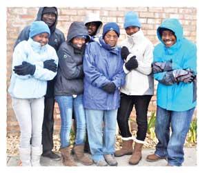 From the left: Josephine Amutenya, Ramah Mumba, Emma Werner, Deon Namiseb, Hanna Garises, Elvira Goagoses and team manager, Dr. Moloi. (Photograph contributed)