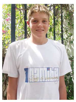 The 15-year old Lushano Lamprecht came second in the Pupkewitz Jetty Mile sprint. The sprint was won by JP Engelbrecht who, at 19, is four years older than Lushano and now swims as a senior. Engelbrecht won by only 4 seconds. Lushano completed the sprint in 09:31.