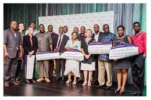 Recipients of various projects that received funding from the Environmental Investment Fund (Photograph by Victoria Ashipala)