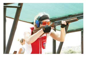 Local professional shooter, Gaby Ahrens. (photograph contributed)