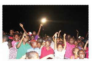 Early Sunday morning, the last weekend of January and the crowd still wants more at the Rosh Pinah New Year's Bash.