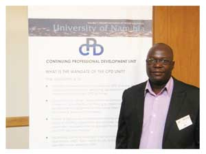 Dr John Nyambe, Director of the Continuing Professional Development Unit. (Photograph by Daniel Kavishe)