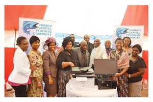 The Hallelujah Parish in Katutura East, Windhoek, received a computer and printer from the members of Human Capital Fishing Company CC.