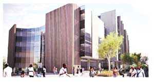 The representation of the new FNB headquarters once the project has been completed.