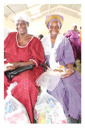 Otavi residents, Maria Andrias and Magdalena #Neibes, together with more than 300 elderly members of the community recently celebrated Telecom's 20th anniversary as part of the company's year-long celebrations.