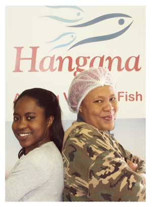 Aune Nantinda and Monaliza Nanus are two women on the way up at Hangana Seafood. The company says they are exemplary of their specific focus on the advancement of female employees.