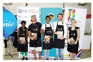 Mirjam Djalo, William Smith, Caty Shemuvalula, Klaus-Theodor Lubowski and Liezl Hoving, face the tasting judges again on 23 March to decide the best chef in the Team Namibia competition, Plate of Namibia.