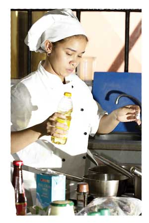 Young Namibian chef, Edwina Beukes is the inspiration behind many of the culinary temptations for which Nice Restaurant has become famous. She competes in the semi-finals for the Hans Bueschkins Young Chef Challenge.