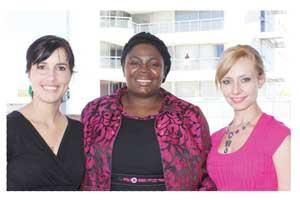 From left to right: Anneri Lück, Nangula Uaandja (PwC Managing Partner), Chanelle van Wyk
