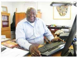 Dr Kuiri Tjipangandjara, General Manager of Engineering and Scientific Services at NamWater, at his office here in Windhoek