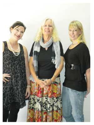 Managing director of NaMedia Natasja Beyleveld with Petra Dillmann from Autism and Asperger Namibia and media analyst at NaMedia, Gesche Pinsenchaum.