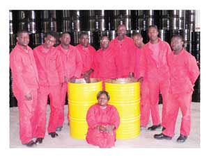Yellow Drum Manufacturers in Arandis obtained finance for expansion from the Development Bank of Namibia. The company employs 13 people and, as demand grows, it expects to employ up to 40 people.