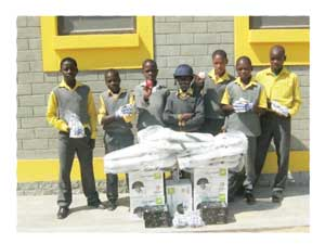 Junior Coastal Cricket Academy (JCCA) players (children from Kuisebmund and Narraville) with their new gear.