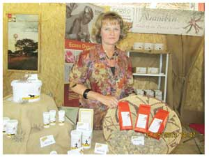 Devils's Claw is an indigenous plant used mainly for its healing properties. It has been used traditionally for hundreds of years. Its unique anti-inflammatory ingredients were again highlighted at the Tourism Expo when Barbara Ludwig of Economic and Social (ECOSO) Dynamics exhibited a range of extracts, tablets and teas, derived from Devil's Claw. These remedies are widely used to support the treatment of joint inflammation, stiffness, arthritis and rheumatism. ECOSO Dynamics trades in raw material of Devils Claw. The company processes the raw form of the plant into a range of derivative supplements for humans but they also manufacture a powder for treating rheumatism in dogs and horses. All products are made of pure plant material consisting of the dried secondary root of the plant. All their products are organic and stocked by most pharmacies and health shops in Windhoek. (Photograph by Hilma Hashange)