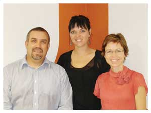 Carlos Jose Medeiros, Business Manager; Liezaan Wheal, Relationship Analyst and Sophia Snyman,Head of Tourism.