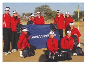 The Windhoek Gymnasium netball team. (photograph contributed)