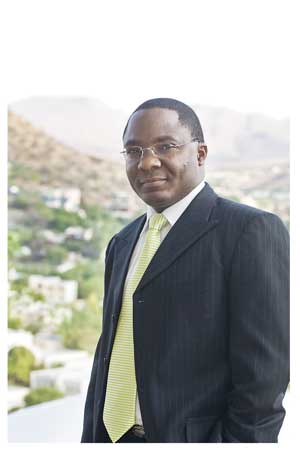 CEO Operations at Old Mutual, Sakaria Nghikembua gave his views on development goals and obstacles.