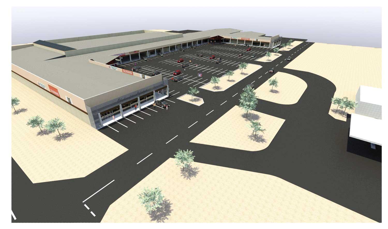 An artist impresssion of the new Okahandja Shopping Centre.