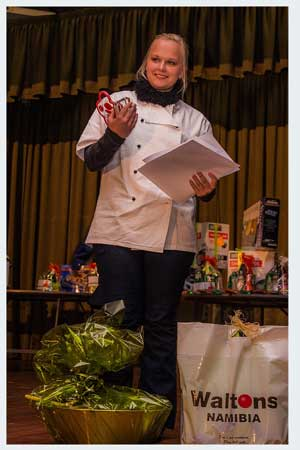 Chantel Kesslau from the Windhoek Afrikaans Privaatskool (WAP) walked away with the crown for the best School Chef for 2013.