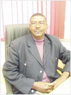 The chairperson of the Khomas Regional Council, Councillor Zulu Shitongeni. (Photograph by Lorato Khobetsi)