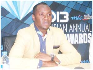 Chief Human Capital and Corporate Affairs Officer at MTC Tim Ekandjo (Photograph by Melba Chipepo).