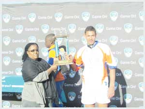 Midfielder Jean-Claude Winkler of Jan Mohr was the FNB Classic Clashes man of the match. (photograph contributed)