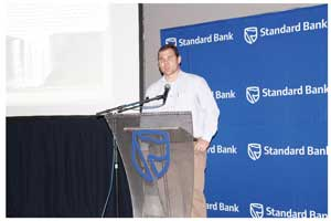 Standard Bank's New Business Manager: Vehicle and Asset Finance, Eugene Junius promises clients prime less 1.5% on all vehicle purchases that originate at the 2013 Standard Bank Namibia Auto Show. The show runs this Friday and Saturday as a complementary exhibition to the famous Biltongfees.