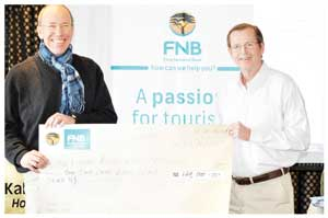 CEO of FNB Namibia Ian Leyenaar and TASA chairperson, Martin Wiemers. Ian Leyenaar said that FNB is a proud supporter of the tourism industry