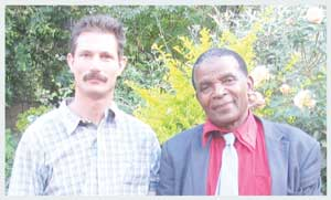 Former Zimbabwe farmers, Ben Freeth (left) and Luke Tembani, have now scored a major legal victory in the battle to get the SADC Tribunal re-instated.