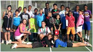 The players in the last Kia Tennis tournament held at Windhoek High School.