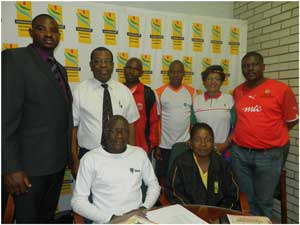 The Confederation of School Sport Association of Southern African (COSSASA)executive team.