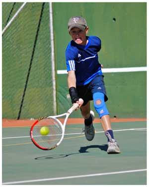 Codie van Schalkwyk managed a hat-trick by winning his third Kia Tennis tournament in a row last weekend