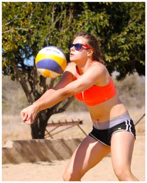 Kim Seebach will be one of the young challengers in the ladies category of the Maerua Superstar Beach Volleyball tournament