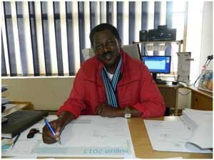 Fishermen Workers Union president, Daniel Imbili says mistrust between employers and employees is the biggest issue faced by the fishing industry. (Photograph by Lorato Khobetsi)