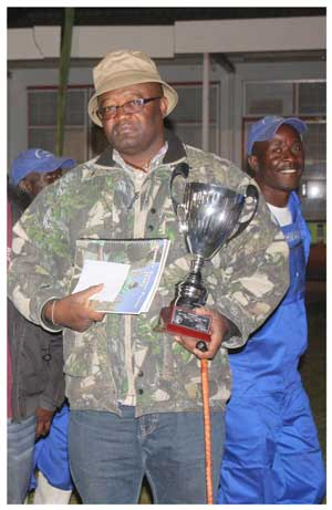 Justus Tjirimuje of Farm Omuserrakomba in the Okahandja district showed the Champion of Champion bulls, a brahman called Red Rock.
