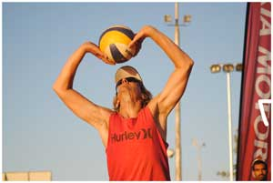 Peter Brinkmann is certainly one of the favourites for this Saturday's Beach Volleyball tournament but it depends who his partner is.