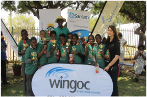 "Dr Christina Swart-Opperman (right), founder of the CSO Aids Orphans Trust, and the winning team with their ""Gladiator"" Sacky Nambuli from Wingoc."